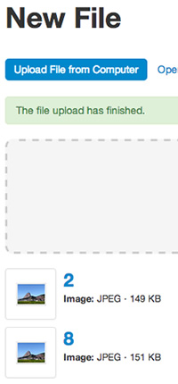 Uploading Files from Your Hard Drive - File Manager
