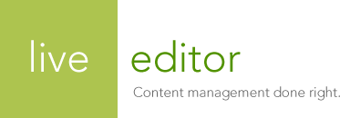 Live Editor - Content management done right